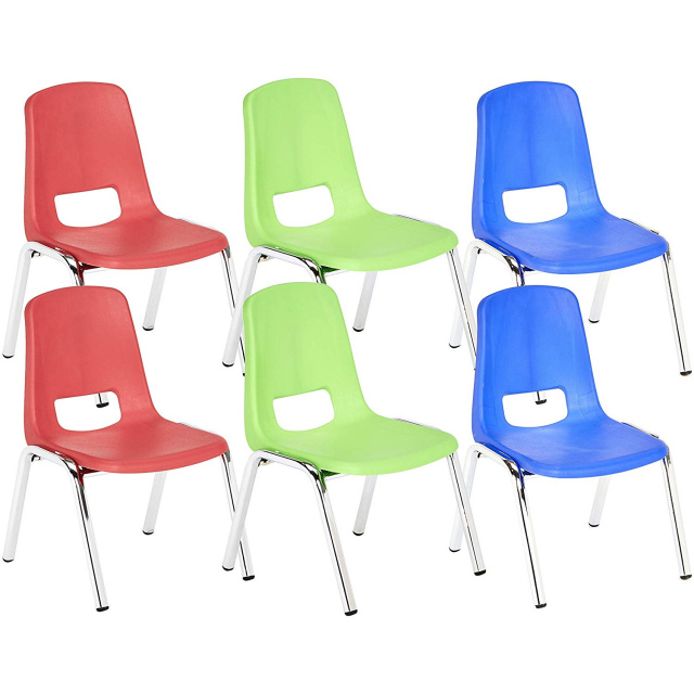 Terrific Basic 14 School Stack Chair Chrome Legs Assorted 6 Pack Unemploymentrelief Wooden Chair Designs For Living Room Unemploymentrelieforg