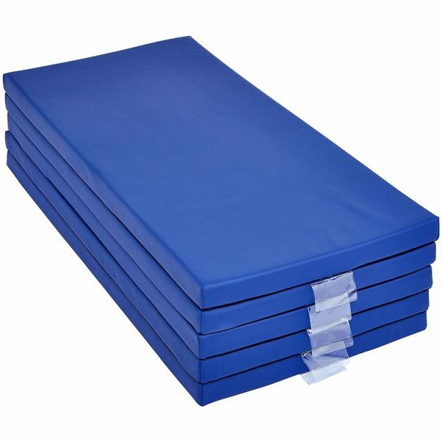 Basic 2 Memory Foam Rest Nap Mats Blue 5 Pack