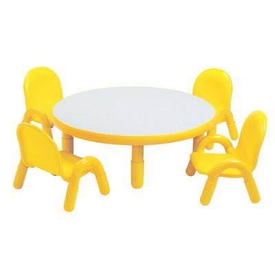 BaseLine Preschool Table & 4 Chair Sets round