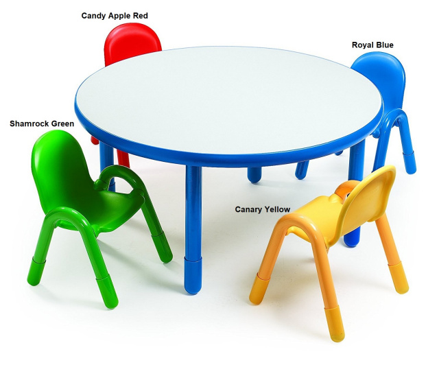 AB74920  BaseLine® Preschool Round Table & 4 Chair Sets