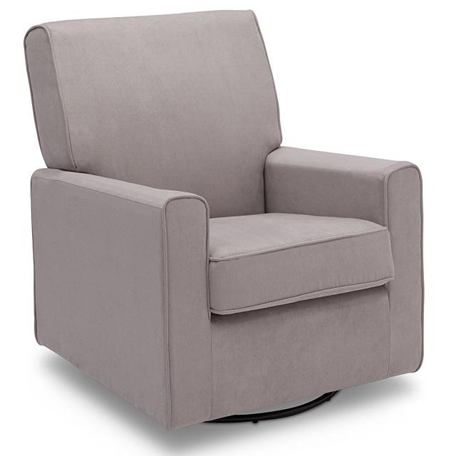 Attrayant Delta Furniture Ava Upholstered Glider Swivel Rocker Chair, Dove Grey