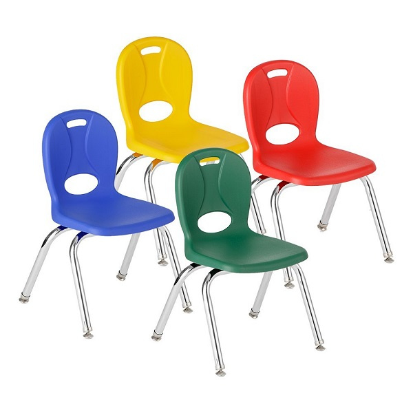 Learniture Structure School Chairs 12  Assorted - 4 Pack  sc 1 st  Daycare Furniture Direct & Kids chairs u0026 Preschool chairs classroom seating school chairs ...