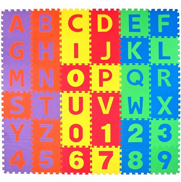 Alphabet Puzzle Play Mat 36 Pcs Non Toxic Foam Floor Blocks