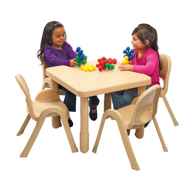 "Angeles AB70020NT Myvalue preschool Table And Chairs Set- 28"" Square"