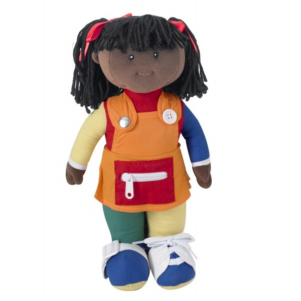 CF100-858P Learn to Dress Doll Girl African American