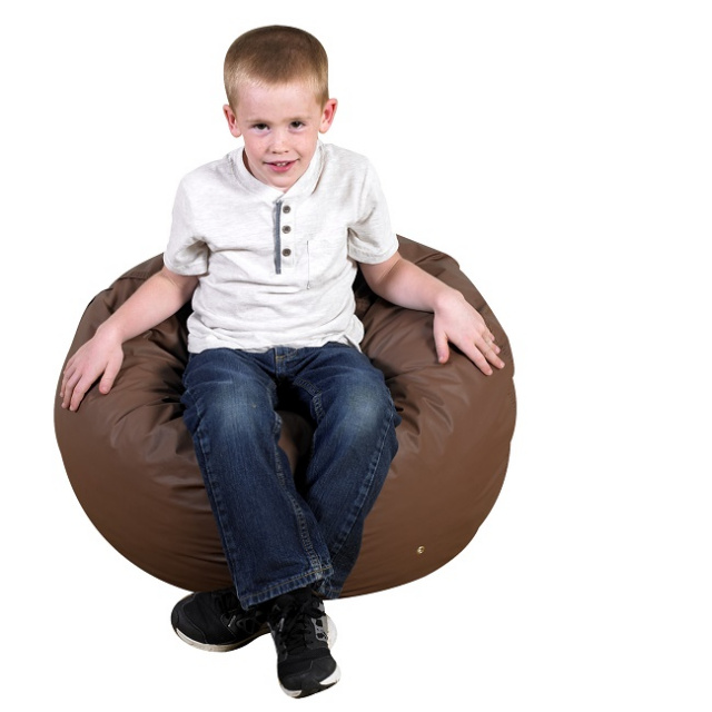 foam filled bean bag 26 inch brown