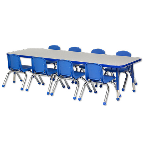 ER Rectangular Table 24x72 u0026 8 - Chairs 10   sc 1 st  Daycare Furniture Direct & Daycare tables and preschool table and chair sets at Daycare ...