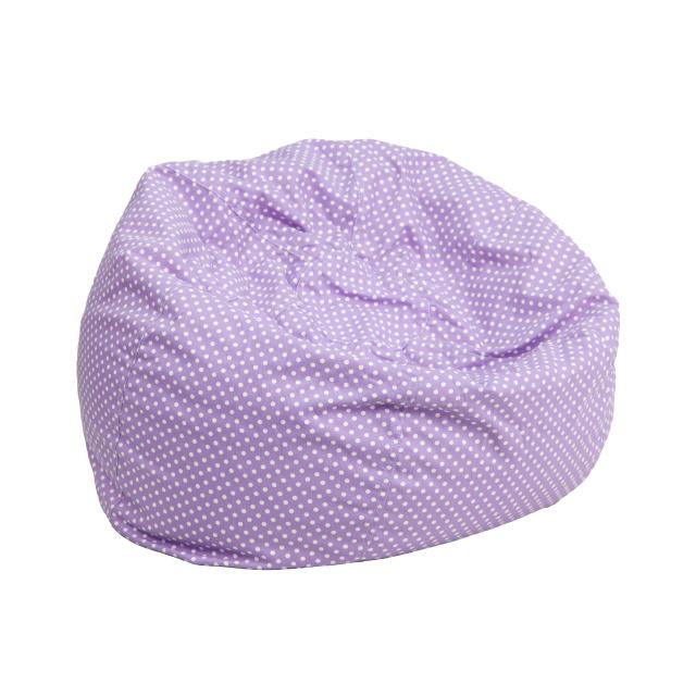 Charmant FF Bean Bag Chair Oversize   Lavender Dot
