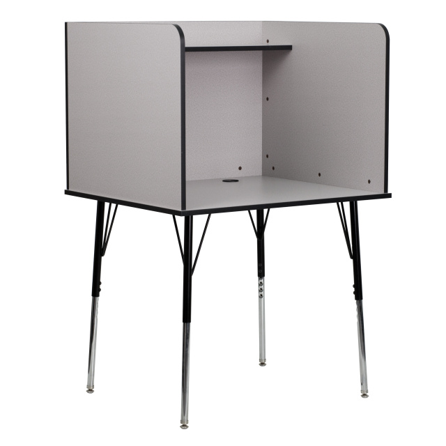Exceptionnel STUDY CARREL WITH ADJUSTABLE LEGS AND TOP SHELF