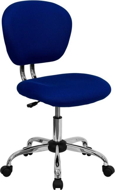 Incredible Ff Swivel Task Chair Mid Back Blue Machost Co Dining Chair Design Ideas Machostcouk