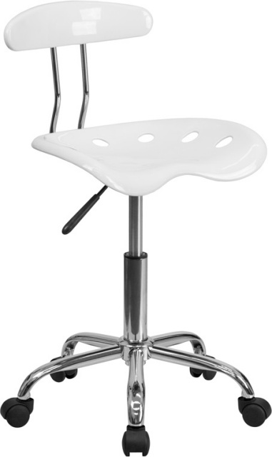 FF Task Chair With Tractor Seat   White