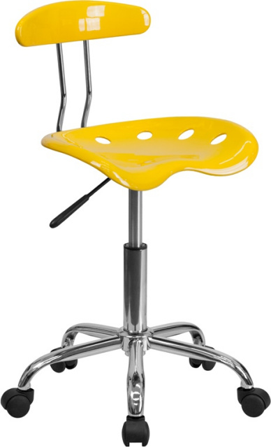FF Task Chair With Tractor Seat   Yellow