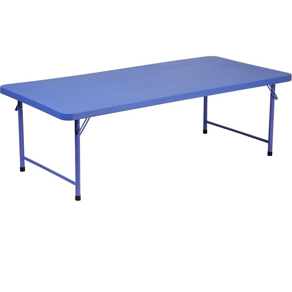 Ff Kids Plastic Folding Table 30 X 60 Blue