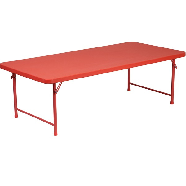 FF Kids Plastic Folding Table 30 X 60   Red