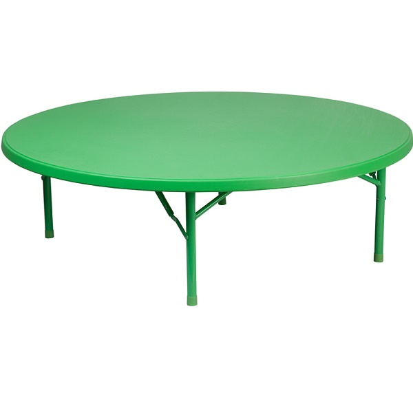 Ff Kids Plastic Folding Table 60 Quot Round Green