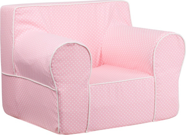 OVERSIZED pink DOT KIDS CHAIR