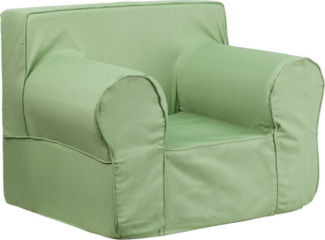 OVERSIZED GREEN KIDS CHAIR