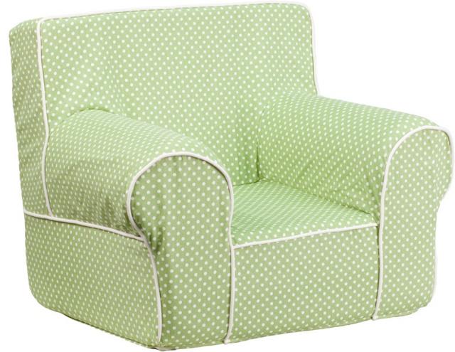 FF  Small Kids Chair   Green Dot