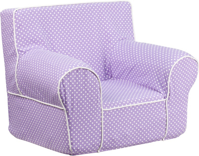 FF  Small Kids Chair   Lavender Dot