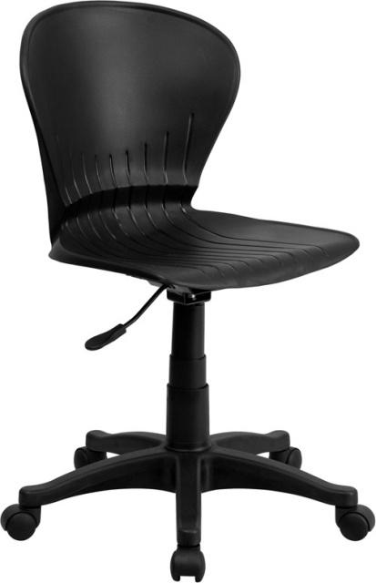 Fantastic Ff Teachers Low Back Plastic Swivel Task Chair Black Machost Co Dining Chair Design Ideas Machostcouk