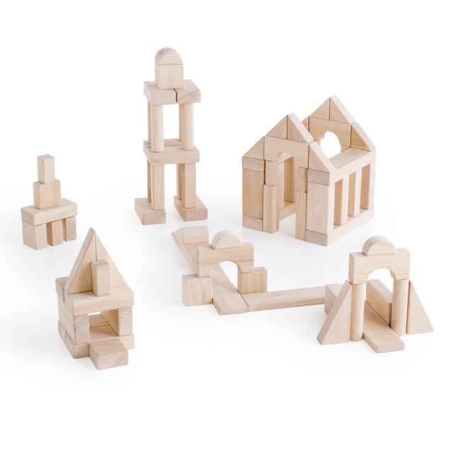 Bon Wood Blocks, Manipulatives Block Sets, Cardboard Blocks, Large School Blocks ,Wood Block Storage