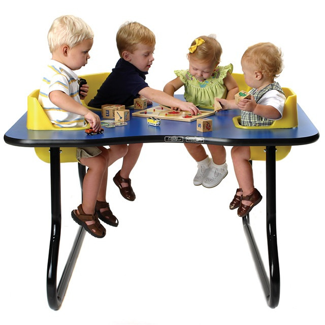 Toddler Feeding Tables 4 6 8 Seat Table Interactive Chairs High Chairries Edutray Secure Sittertable With Inside