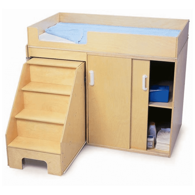 Whitney Brothers WB0648 Step Up Toddler Changing Cabinet Natural