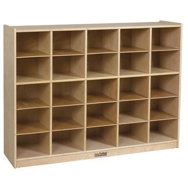 Elr 0427 Birch 25 Cubby Tray Cabinet