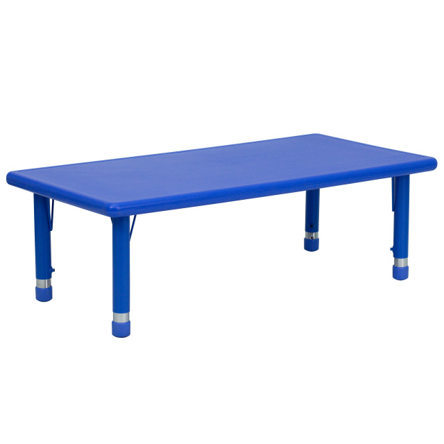School rectangle table Marble 24w 48l Height Adjustable Rectangular Blue Plastic Activity Table Discount School Supply Ff Rect Activity Resin Table 24 48 Blue
