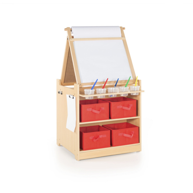GC G51089 Guidecraft Desk To Easel Art Cart
