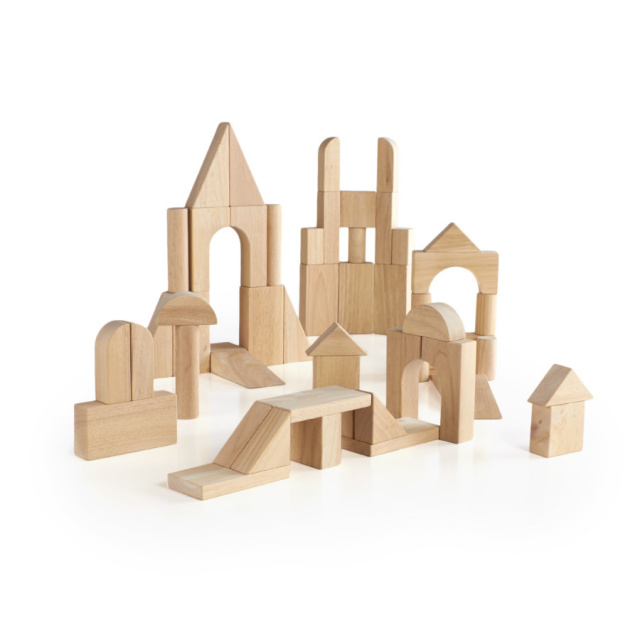 Wood Blocks Manipulatives Block Sets Cardboard Large