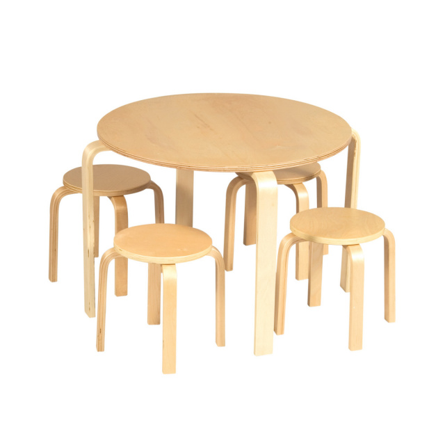 GC-81045 Guidecraft Nordic Table Set - Natural  sc 1 st  Daycare Furniture Direct & Wood Tables and wooden chair at Daycare Furniture Direct. Wooden ...