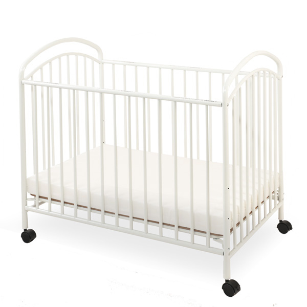 lacs80 white mini portable compact crib
