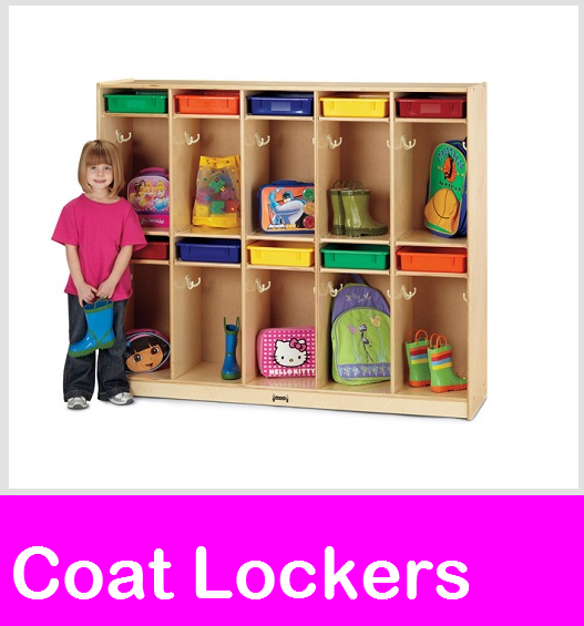 Coat locker, wood coat lockers and preschool coat lockers at Daycare Furniture Direct