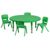 "FF Round 45"" Activity Table & 4 Chairs 10.5"" Green"