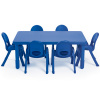 AB705206 MyValue Rect Table & 6 Chairs