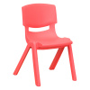 "FF RED STACKABLE 10.5"" SCHOOL CHAIR 6-Pack"