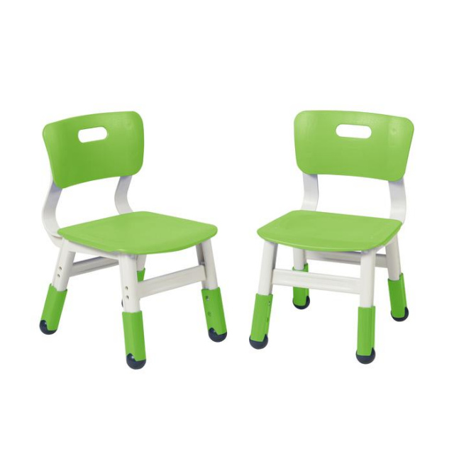 ELR-14441-GG Resin Adjustable Classroom Chairs  2 Pack Green