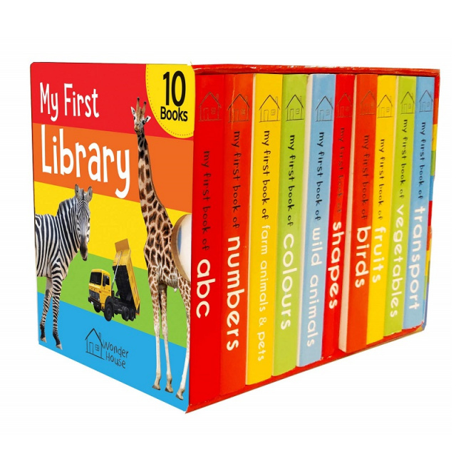 My First Library of 10 Small Board Books