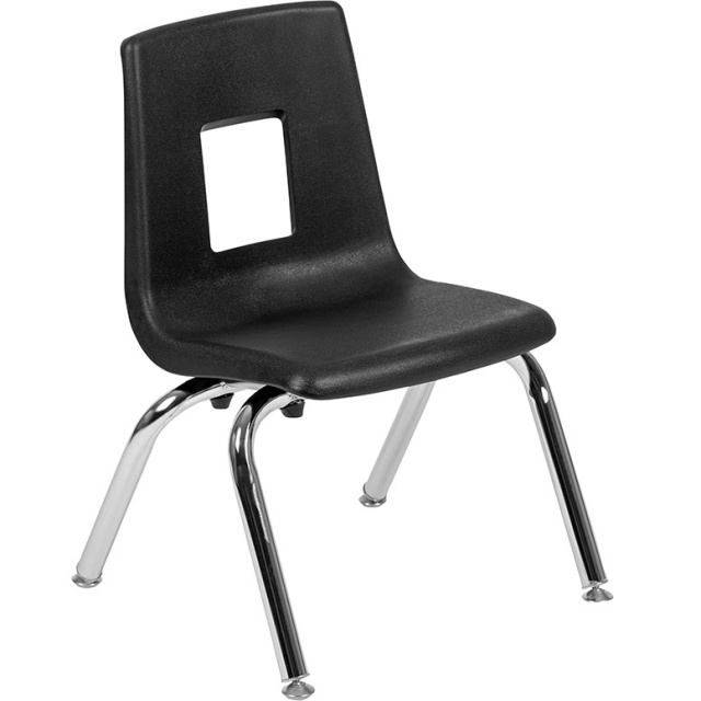 "Student Stack School Chair 12"" Black"