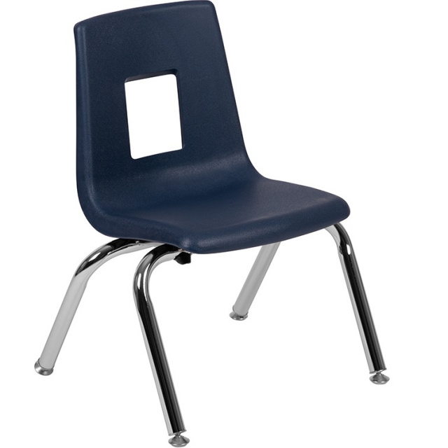 "Student Stack School Chair 12"" Navy"