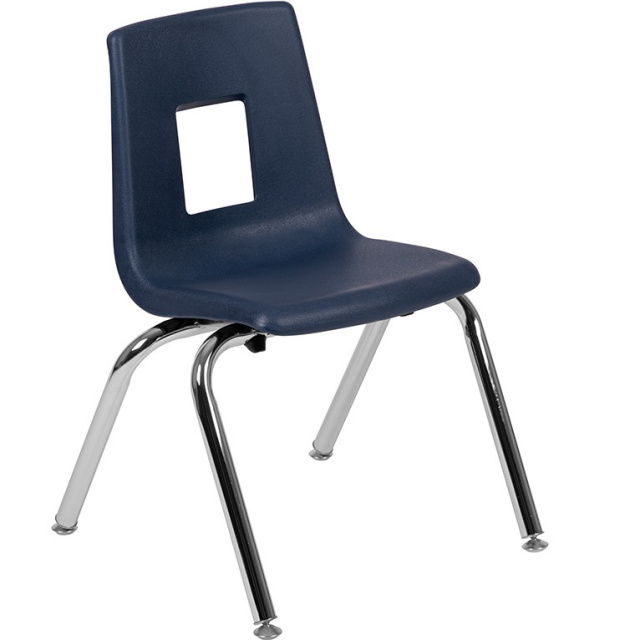 Advantage Navy Student Stack School Chair 14 inch ADV-SSC-14NAVY
