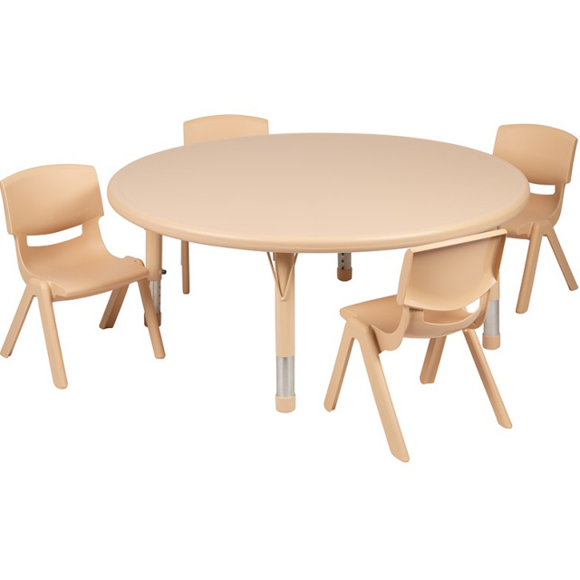A+Childsupply A Child Supply Circular Table with 4 Stools Kids Furniture