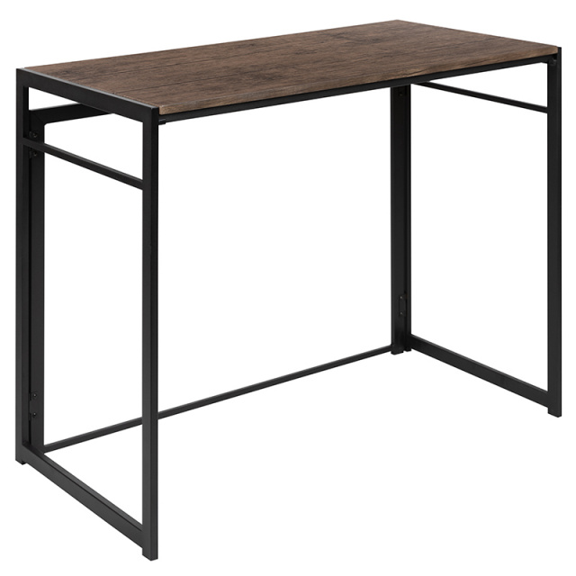 FF Rustic Home Office Folding Computer Desk 40""