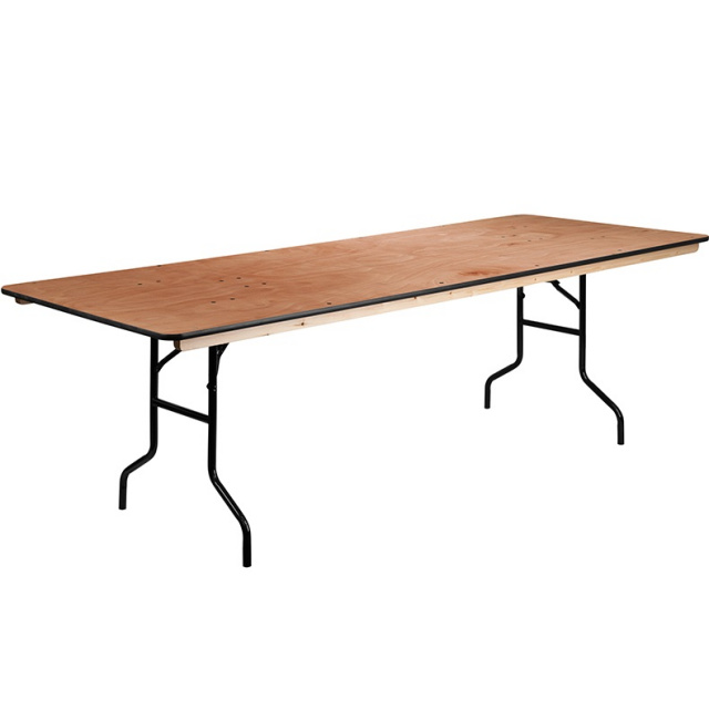 FF Wood Folding Banquet Table 8 Ft