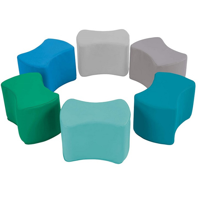 10442-CT Butterfly Stool Modular Toddler Seating Set - 6 Pack