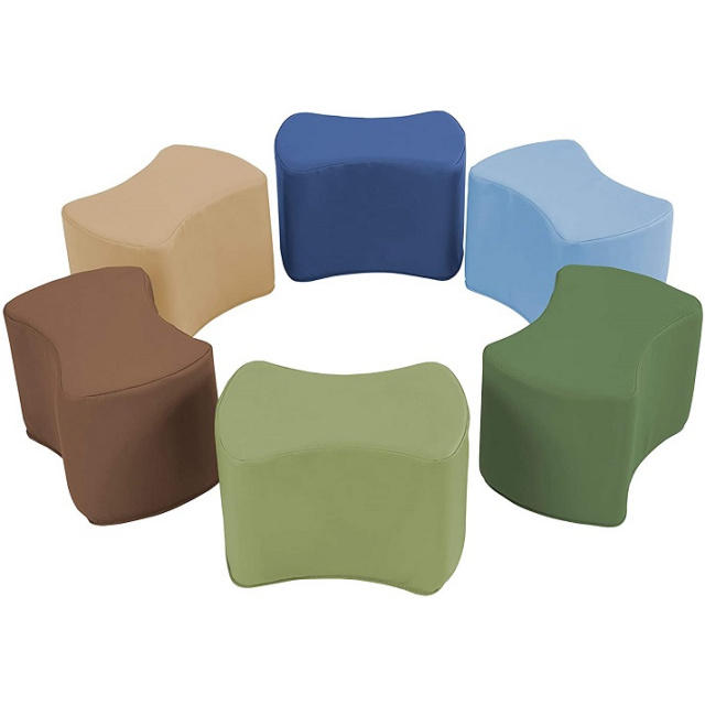 10442-ET Butterfly Stool Modular Toddler Seating Set - 6 Pack