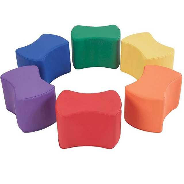 10443-AS Butterfly Stool Modular Toddler Seating Set - 6 Pack
