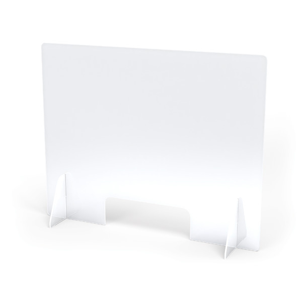 9824JC See Thru Table Divider Shields with Opening 30x8x23.5