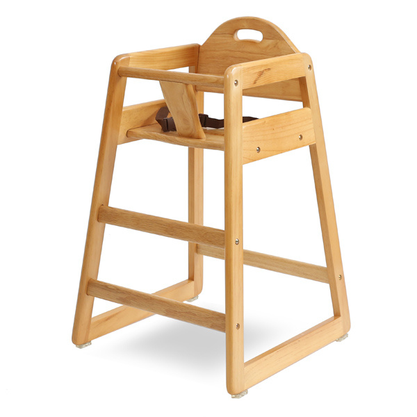HC-004-N Restaurant Style Wooden High Chair - Natural